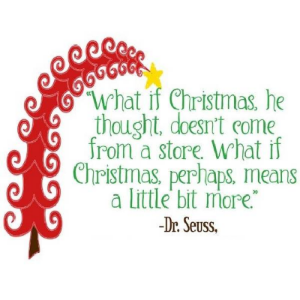 Christmas meaning Dr Suess