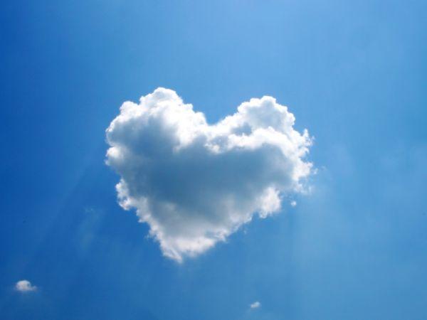 silver lining heart clourd