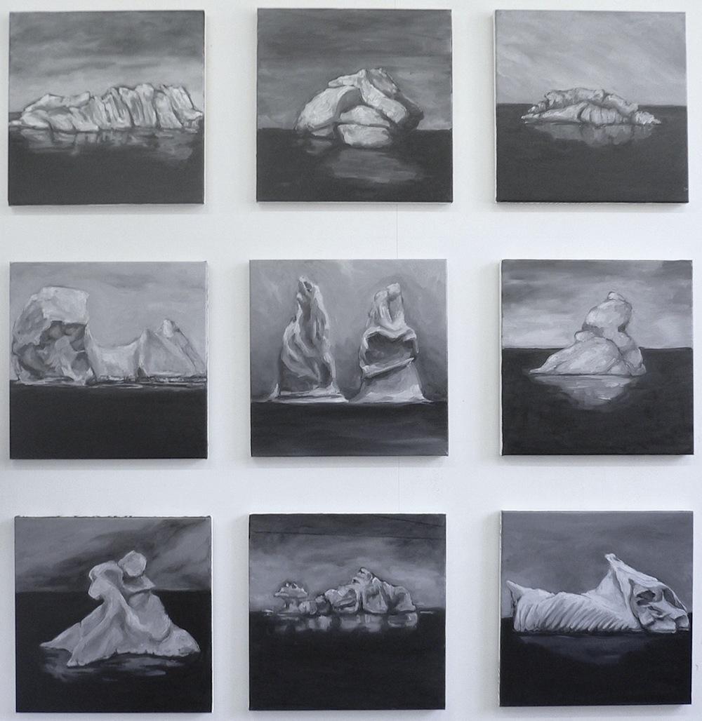 Nine Icebergs