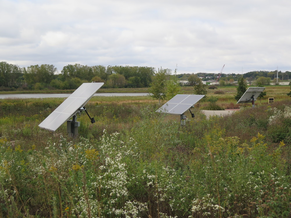 Cascade Meadow has three solar arrays, each demonstrating a different technology. (Photo: The Med City Beat)