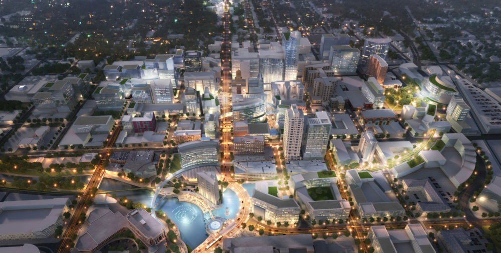Rendering: Aerial view / DMC Development Plan