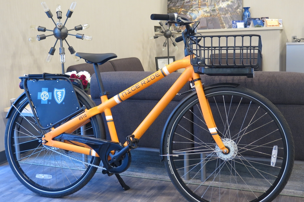Photo: Nice Ride Minnesota bike in DMC office / The Med City Beat