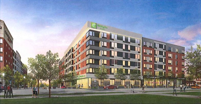 Rendering: Proposed Holiday Inn / Council agenda packet
