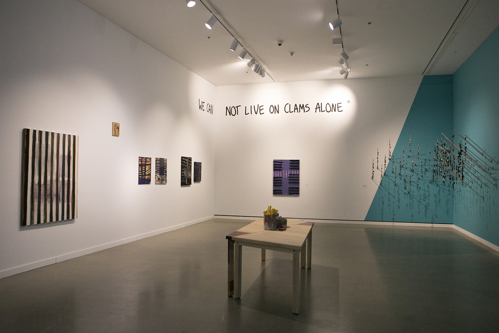 Installation view of  The Calmest of Us Would Be Lunatics , 2016.