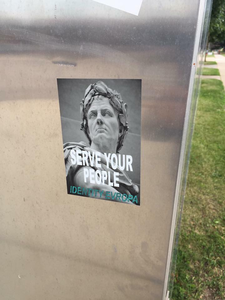 White nationalist propaganda in downtown Rochester