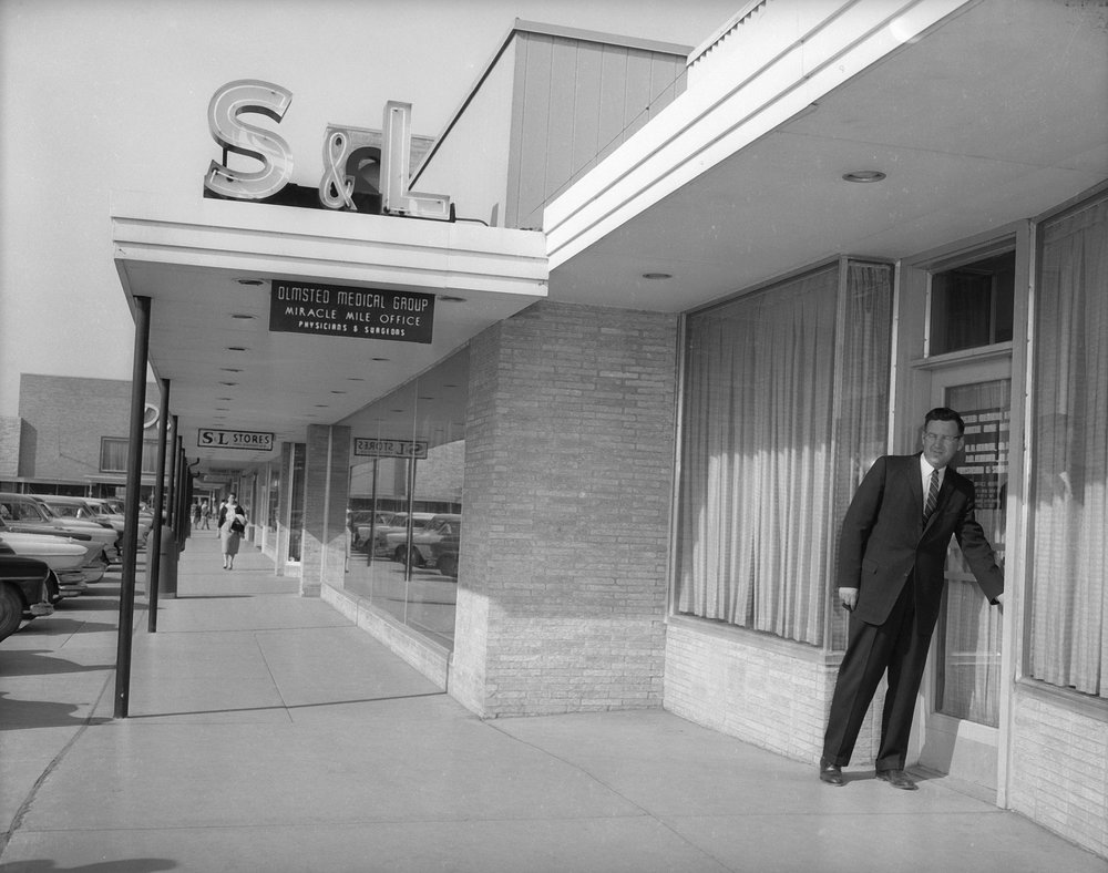 Olmsted Medical Group's clinic at Miracle Mile in 1956 / Courtesy OMC