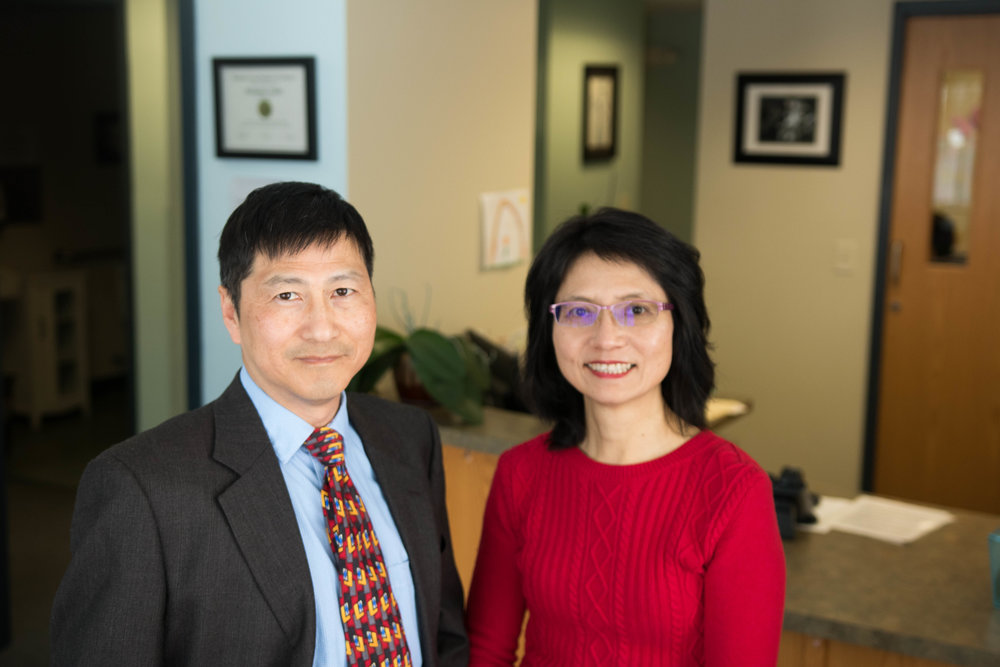 Left to right: Dr. Jengyu Lai and Meiping Liu