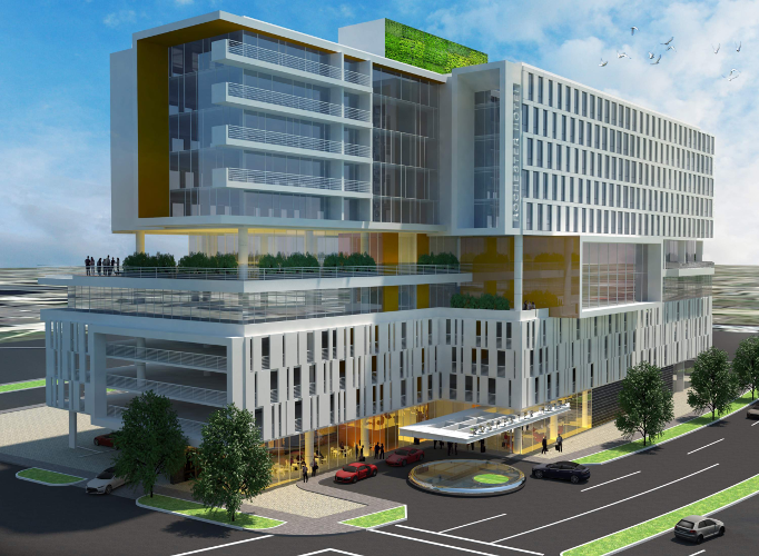 Rendering of proposed Extended Stay Hotel