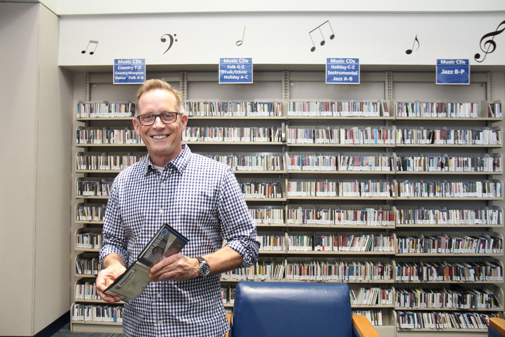 "Michael Sandeen says, ""It was the music collection that got me in here in the first place — it's just an awesome collection of contemporary and rock and jazz music."""