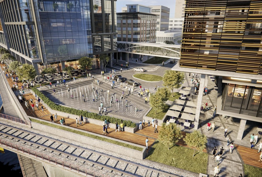 Bloom's rendering of a reimagined downtown waterfront