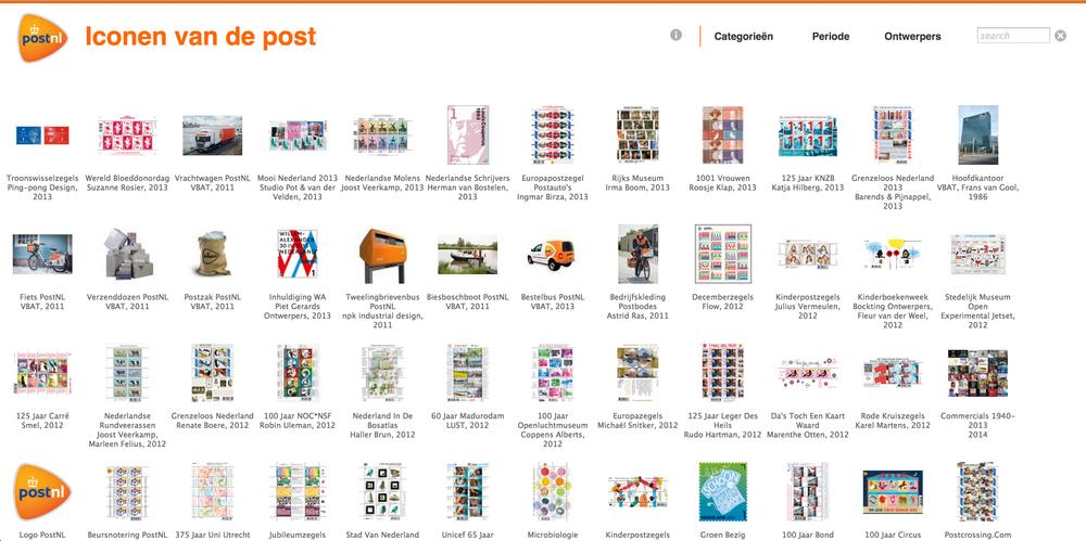Website Iconen van de Post, 2014