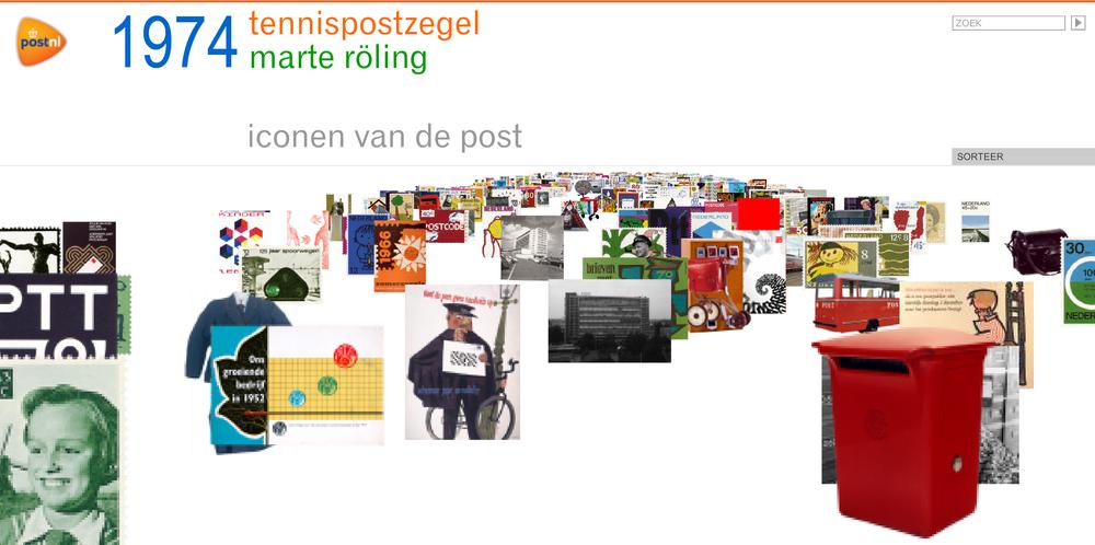 Website Iconen van de Post, 2007