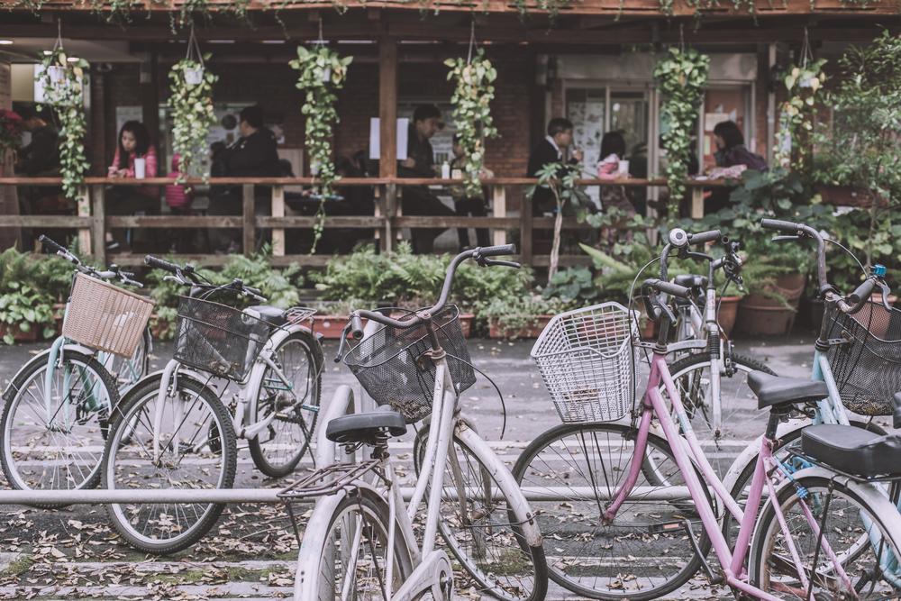 鹿鳴堂旁的台大農場福利社後面改建成咖啡雅座!