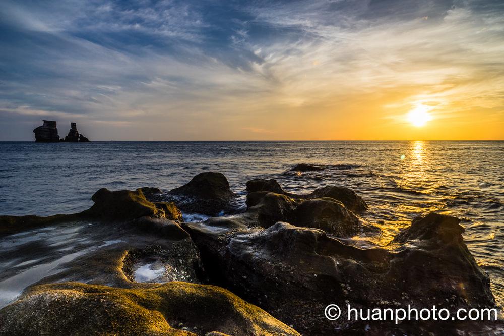 5:22 日出後17分鐘,多點岩石取景,漸漸退潮沒拍到海浪瀑布