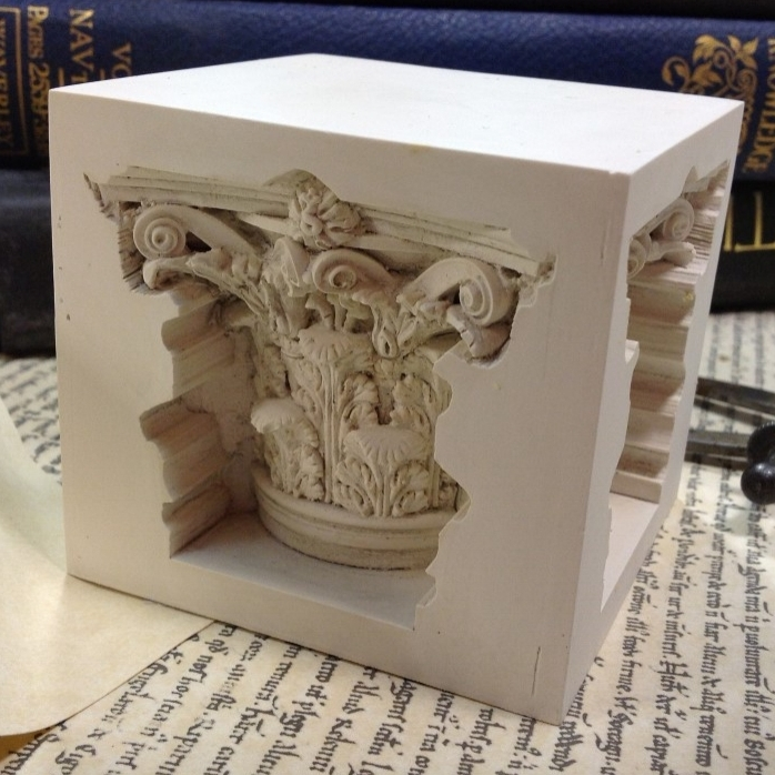 Corinthian paperweight £12.00 / RRP £30.00 (7cm sq) This Corinthian Paperweight includes the capitol detail sunken into all sides of this cube. It would make a wonderful gift for anyone with an interest in the classical or student of architecture.