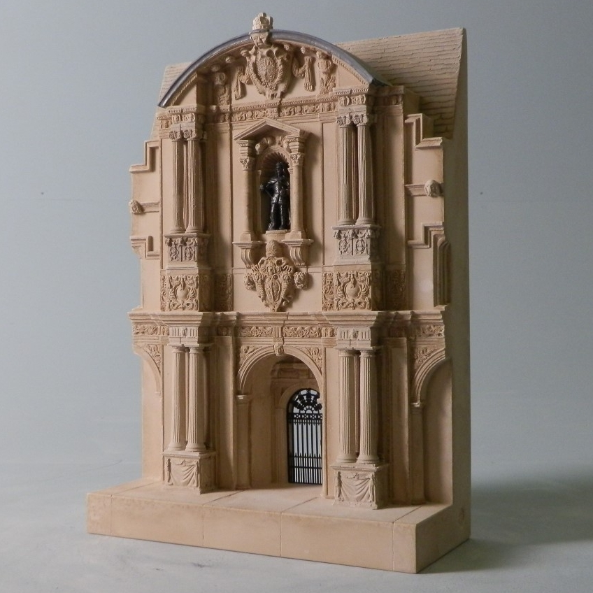 Building commissioned by Archbishop Laud When: 1636 Where: St John's College, Oxford This detailed scale Timothy Richards doorway model is an iconic reference to one of Britain's most prestigious colleges, Oxford University. This model would make a stunning centrepiece in any living room, office or study as a memento of a student or alumni's experience at this celebrated British establishment. The Canterbury Quadrangle at St John's College Oxford was the first example of Italian Renaissance architecture in Oxford. The three connected Libraries are situated here including the Old Library, The Laudian Library and The Paddy Room. The model features the entrance to the Great Lawn and Groves. St John's College is a constituent of Oxford University. Sir Thomas White founded the college in 1555 to provide a source of educated Roman Catholics to aid Queen Mary's reformation. It is the wealthiest college in Oxford.