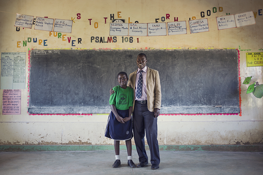 Safina and her teacher