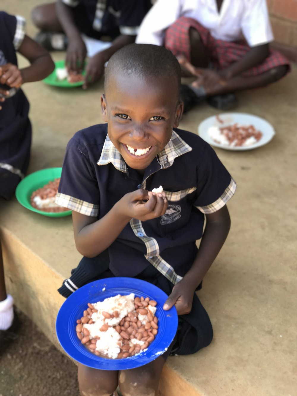 $72 = A Year of Lunch& snacks for a Student - Just $72 can feed a Cherish Primary student for a FULL year! Many of our students rely on school for the majority of their meals. When are students have full bellies, they perform better in the classroom.