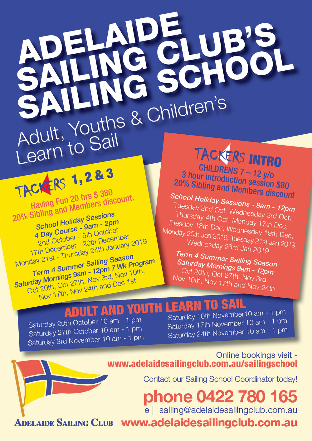 ADELAIDE SAILING CLUB, A5 School course dates Flyers 2018.jpg