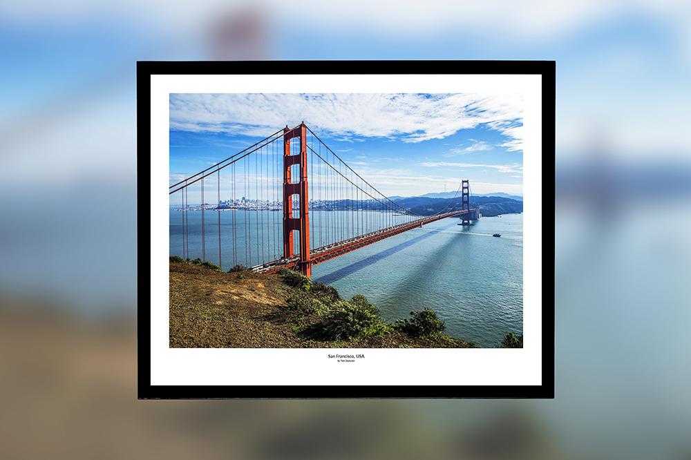 Golden Gate, USA – oprawiony wydruk (50x40 cm) - 200 zł | kup teraz ➞