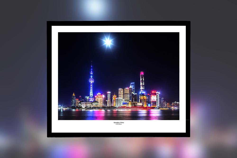 Szanghaj, Chiny – oprawiony wydruk (50x40 cm) - 200 zł | kup teraz ➞