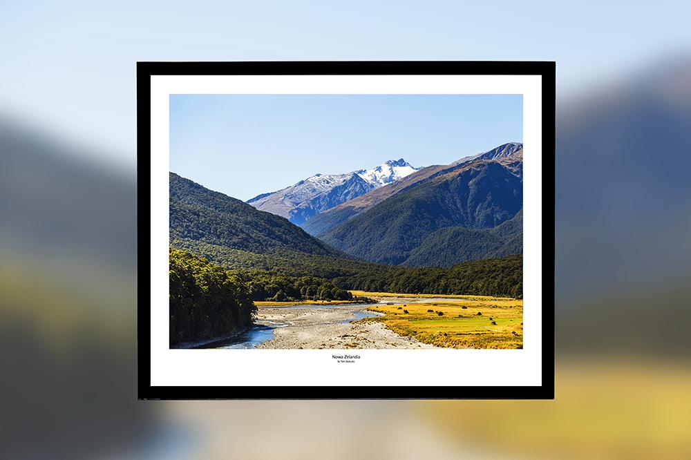 Nowa Zelandia – oprawiony wydruk (50x40 cm) - 200 zł | kup teraz ➞