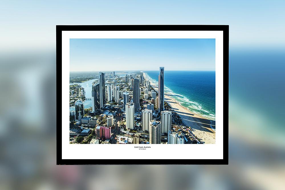 Gold Coast, Australia – oprawiony wydruk (50x40 cm) - 200 zł | kup teraz ➞
