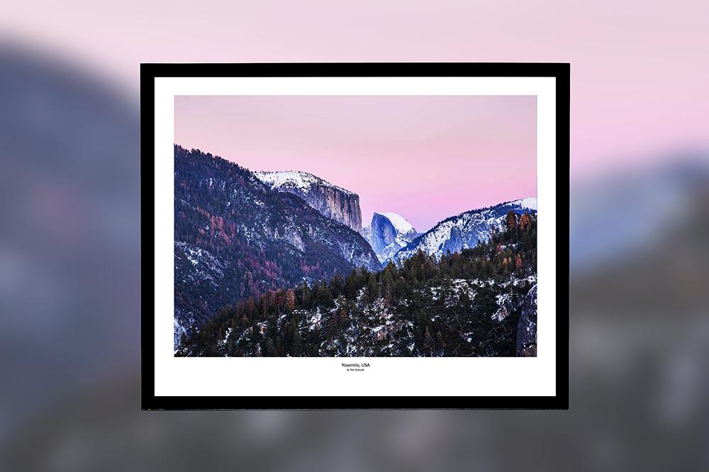 Yosemite, USA – oprawiony wydruk (50x40 cm) - 200 zł | kup teraz ➞