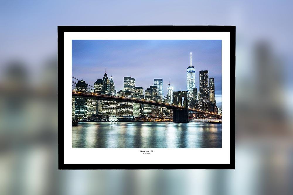 Nowy Jork, USA – oprawiony wydruk (50x40 cm) - 200 zł | kup teraz ➞