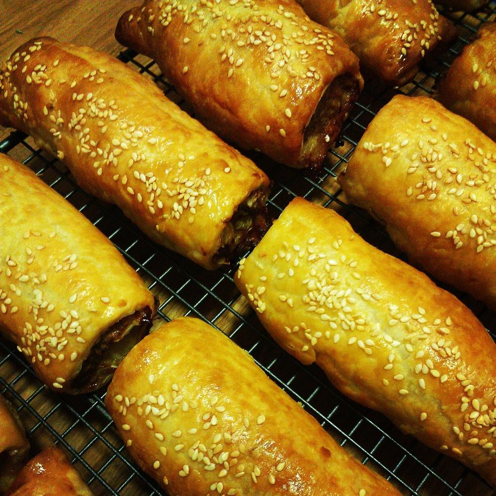 Lamb paprika and almond sausage rolls