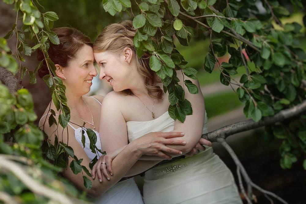 gay wedding at the Boston Public Garden