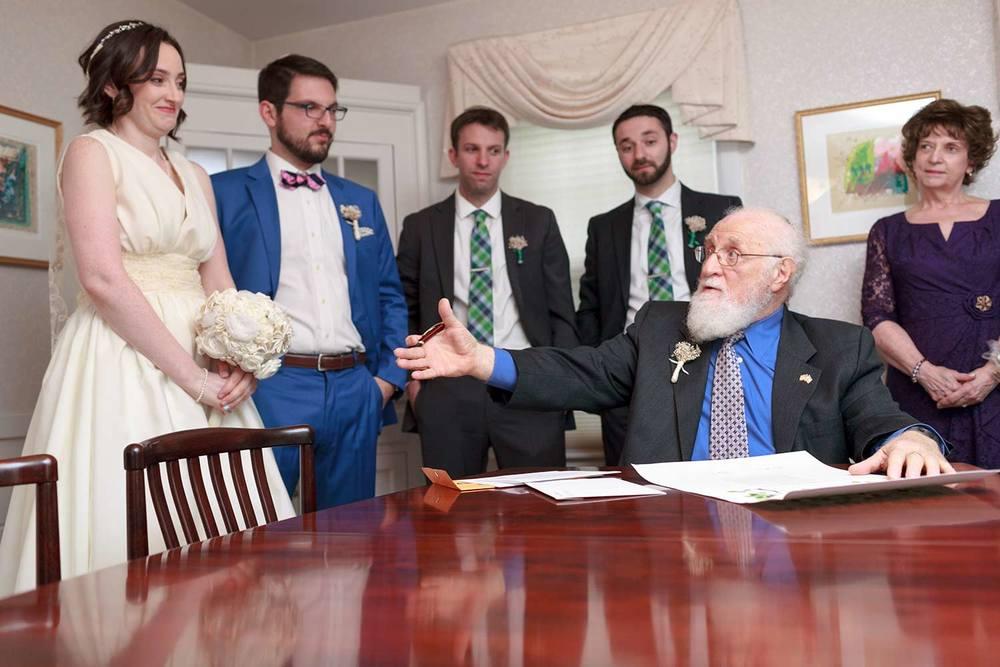rabbi joking before ketubah signing