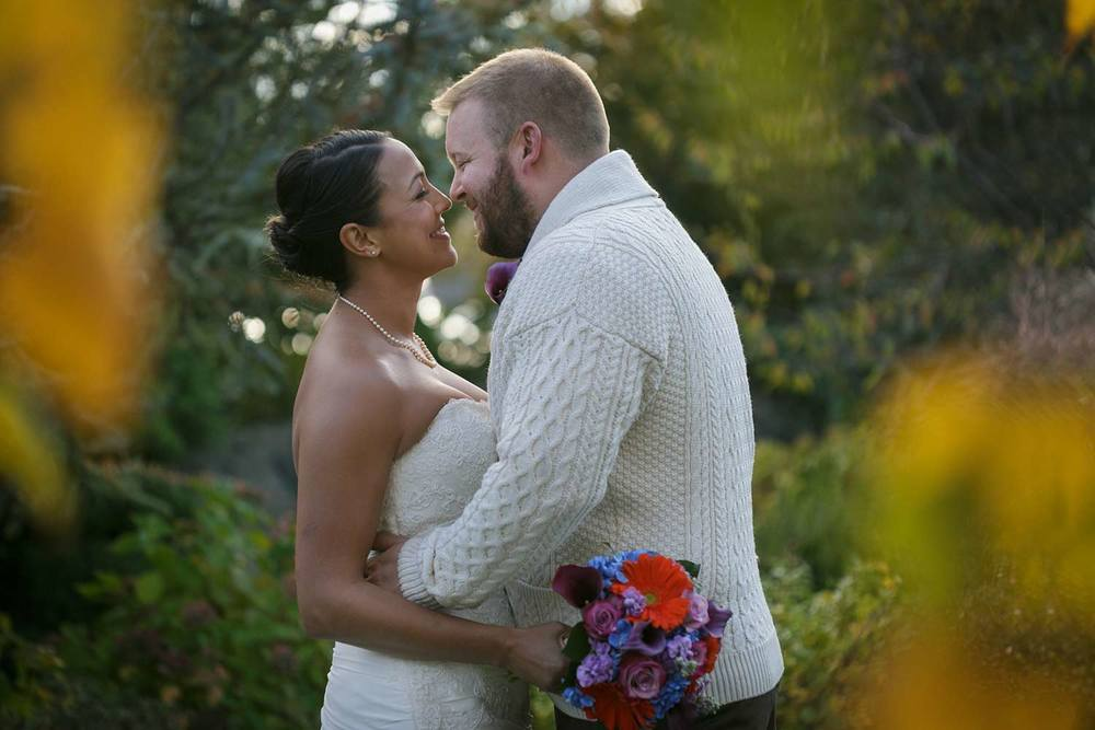 love this groom's Irish sweater at fall wedding at the Red Lion Inn in Hingham