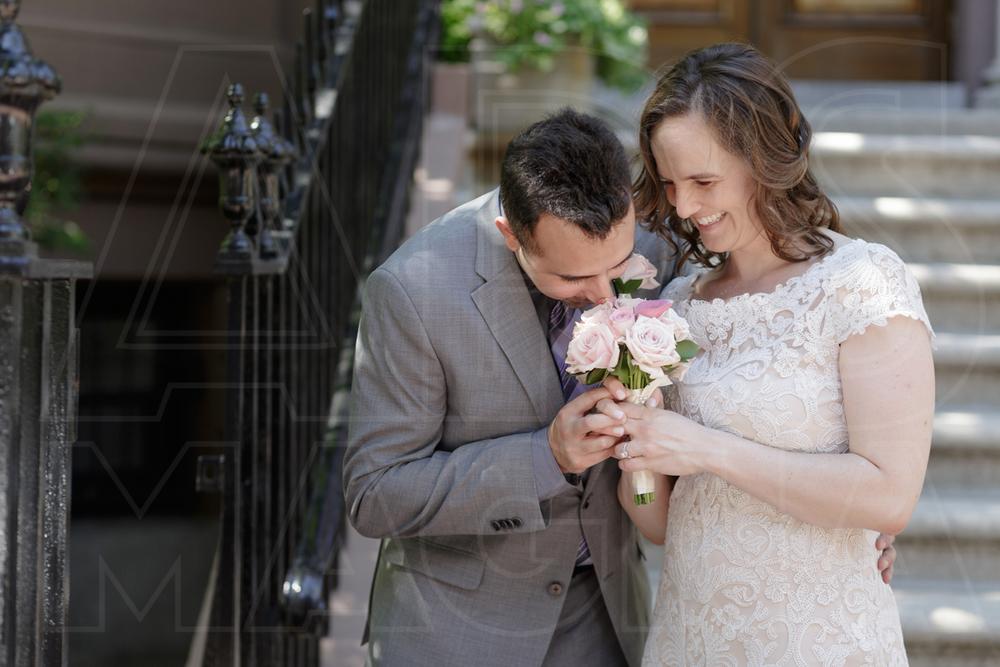 boston city hall wedding bride and groom