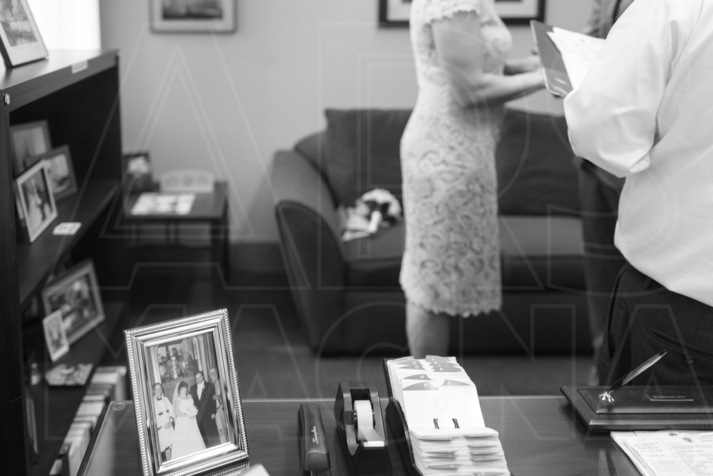 vows Boston City Hall wedding - loved that on the clerk's desk was his own wedding photo!