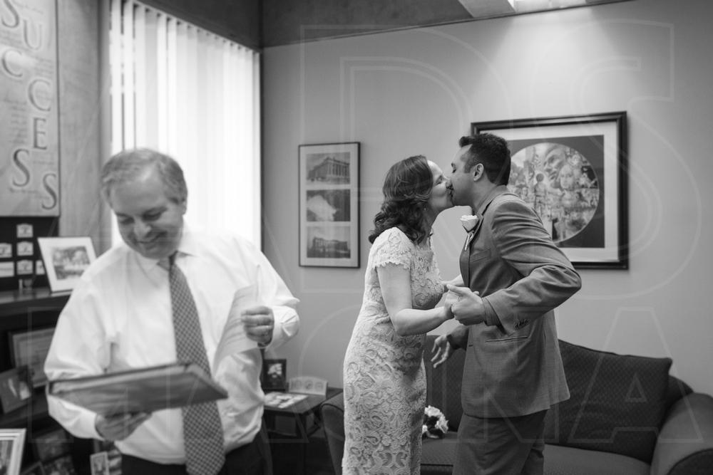 Boston City Hall civil wedding ceremony