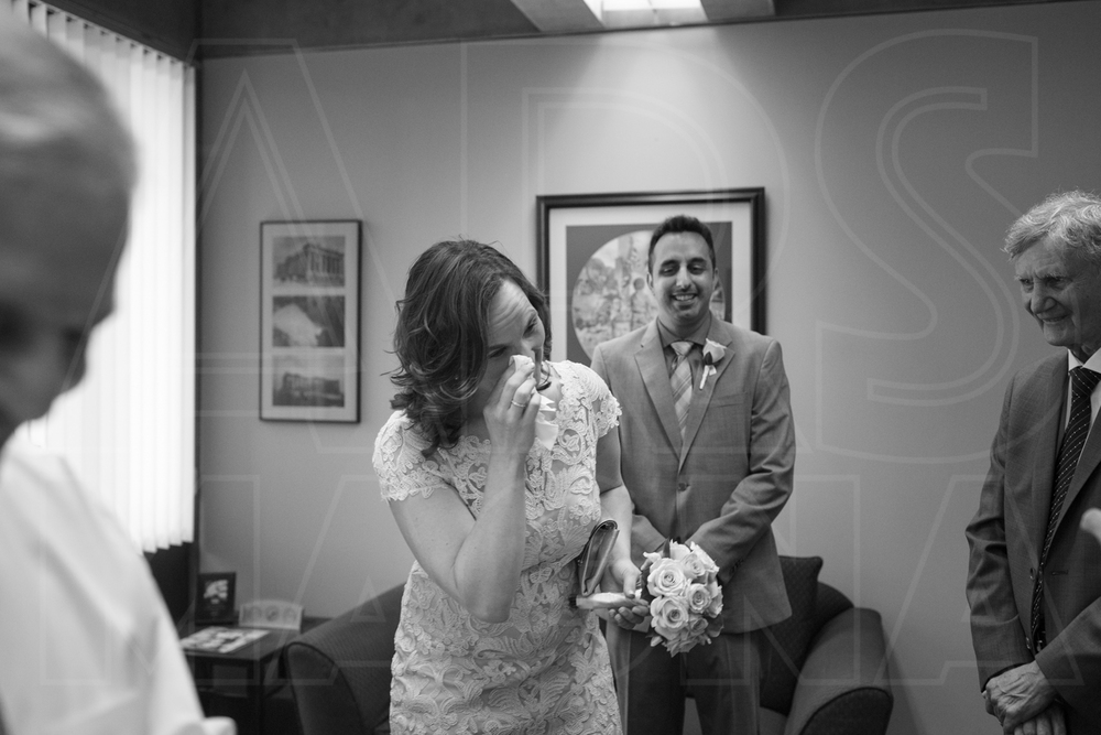 Boston City Hall Wedding tears