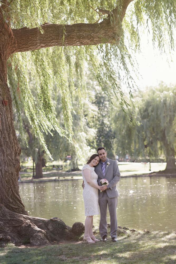 Boston Public Garden wedding willows