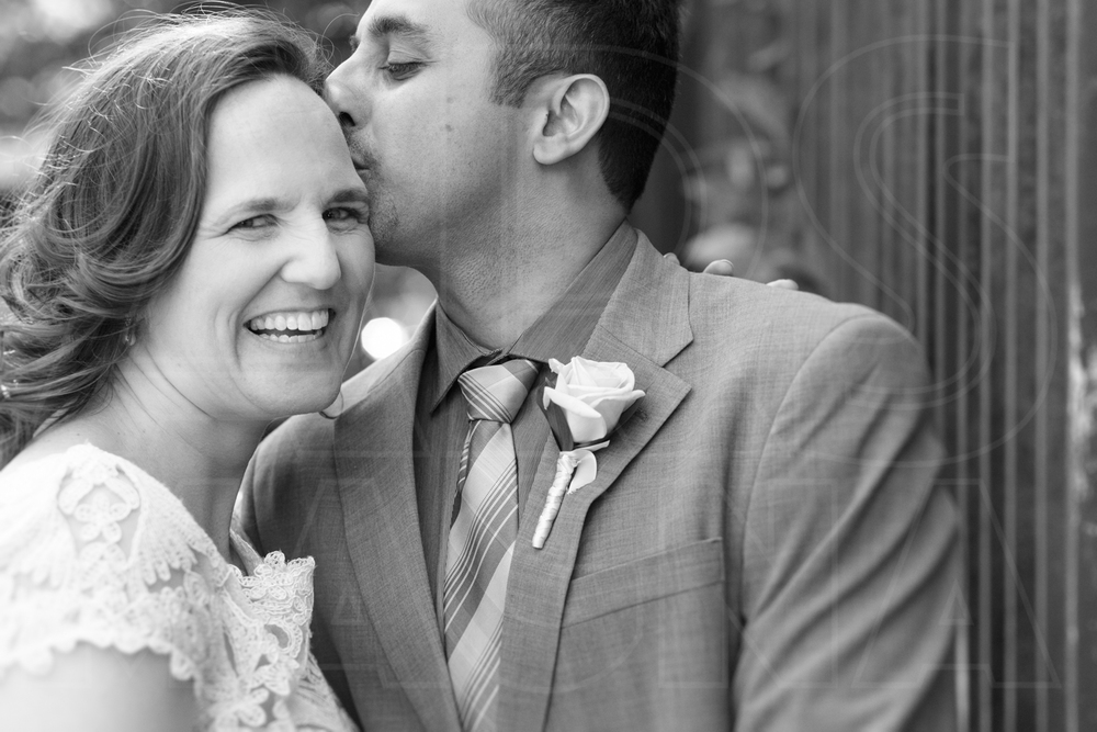 Boston back bay wedding portrait kiss