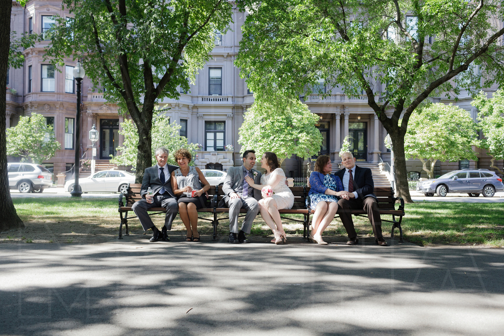 All three couples, enjoying the mall on Commonwealth Avenue.