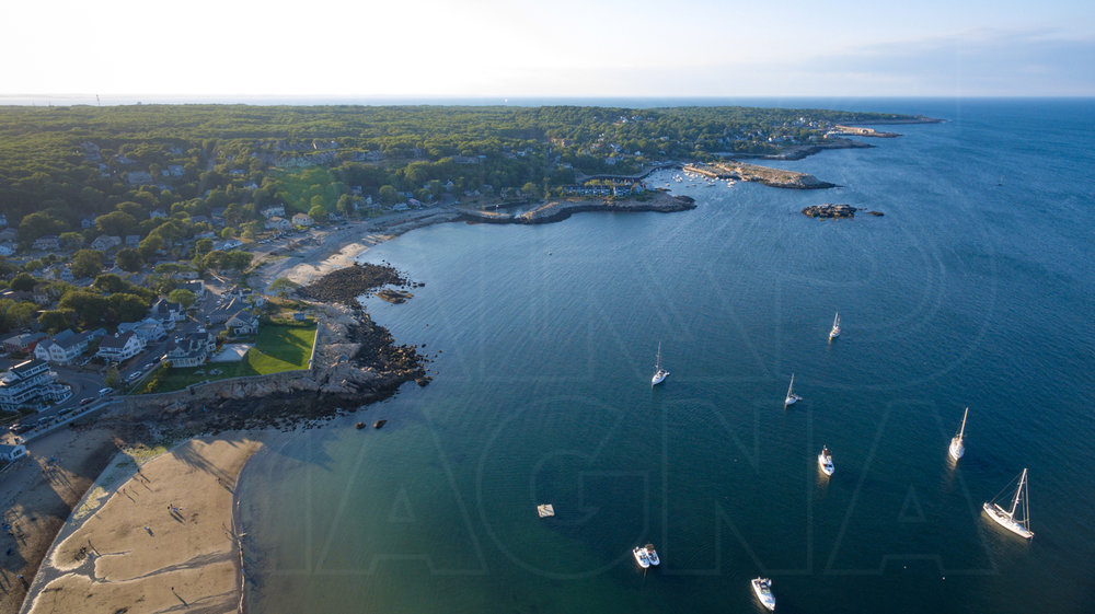 view from drone rockport massachusetts