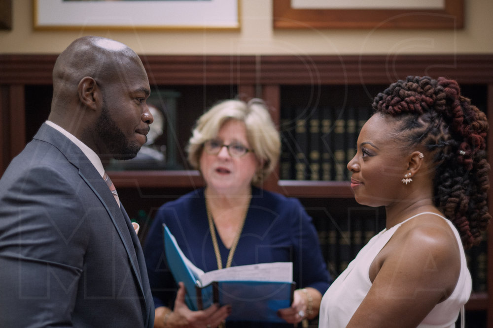 saying vows city hall wedding boston