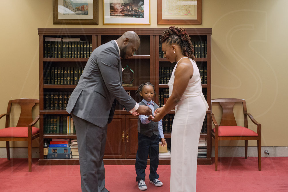 exchange of rings city hall wedding boston