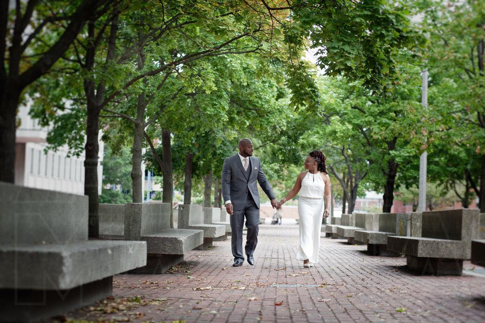 bridal portrait city hall wedding boston