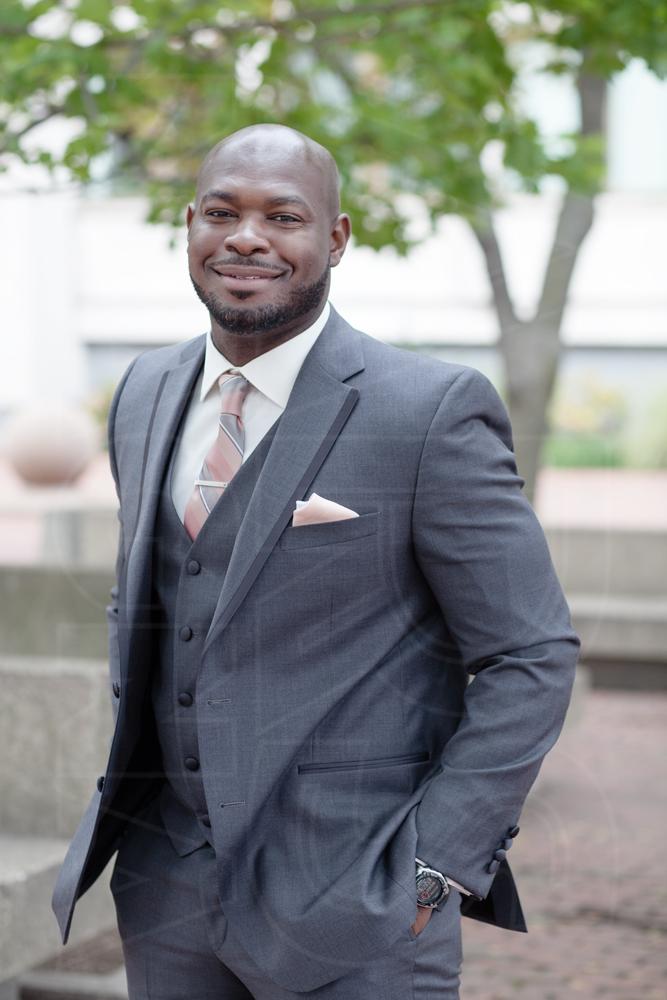 groom city hall wedding boston grey suit