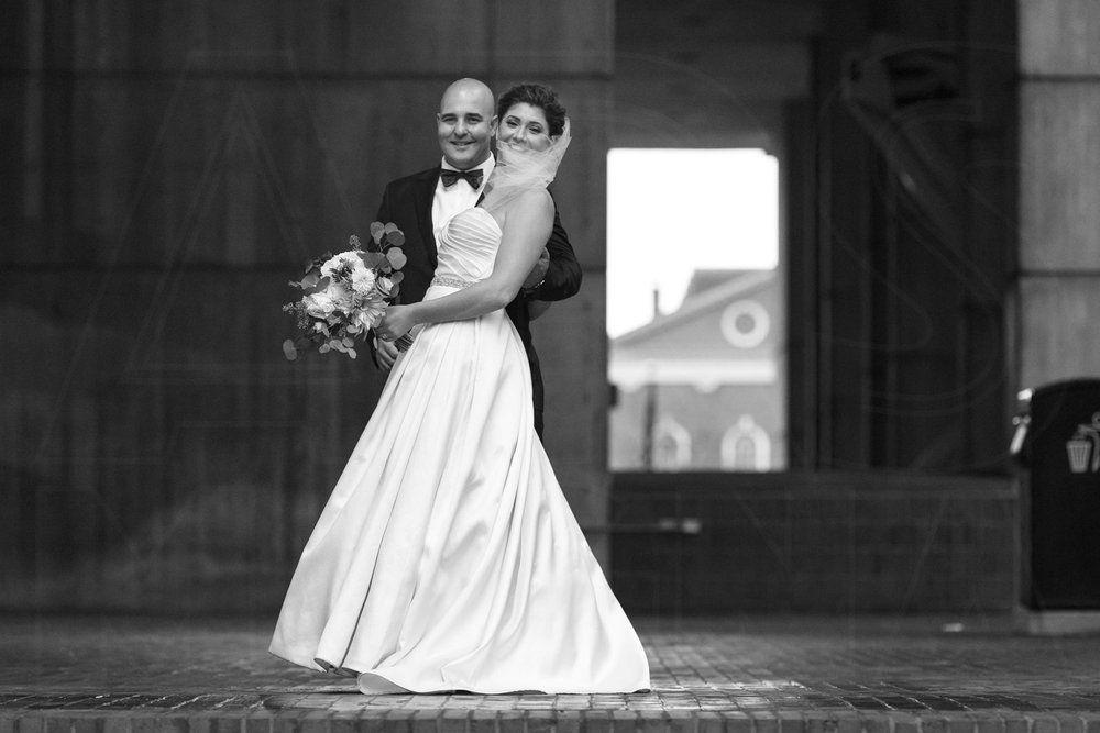 bride and groom portrait wedding photography city hall