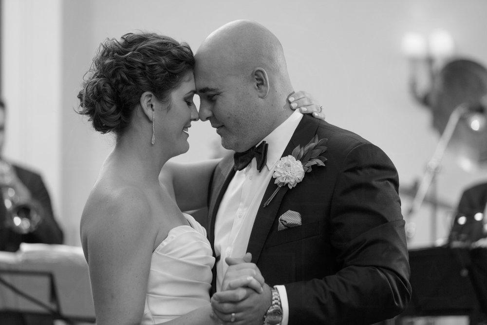 first dance boston college club wedding photos