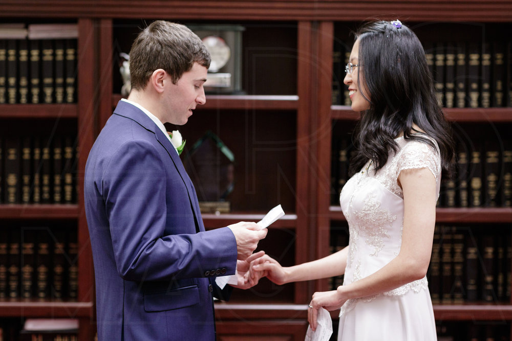 reading vows city hall wedding in boston