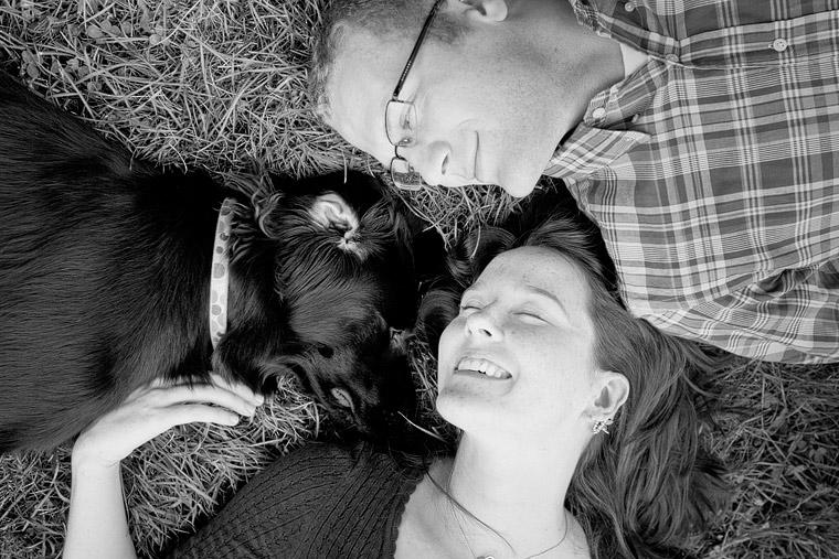 engagement portraits dog sheepfold easton
