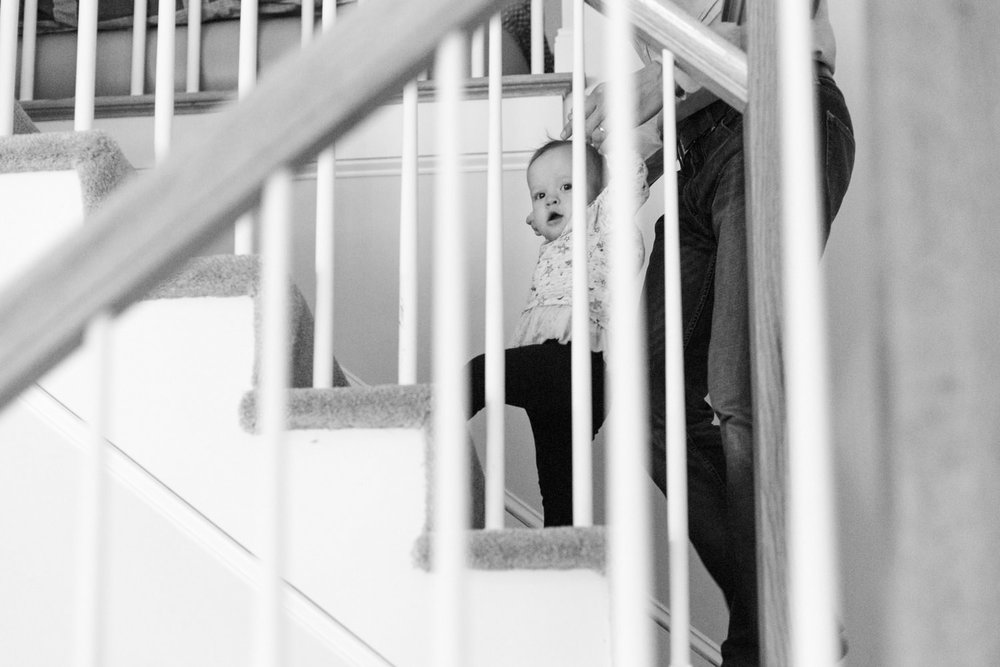 wellesley ma family documentary photographer climbing the stairs